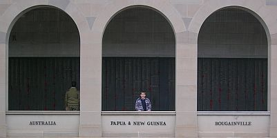 The names of those serving in Australia, Papua & New Guinea, & Bougainville at the Australian War Memorial