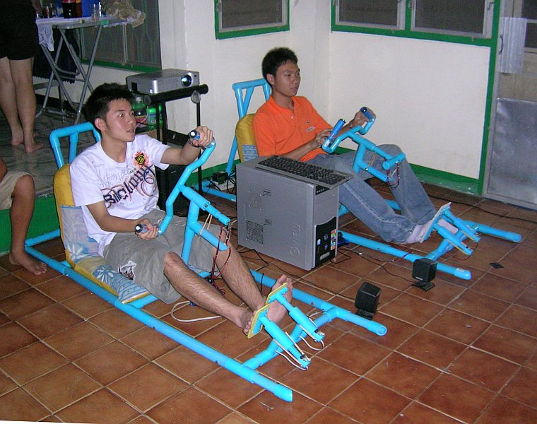 PVC Racing Cars