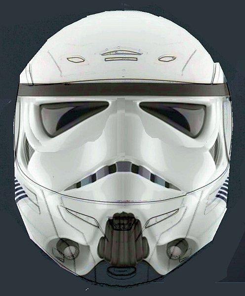 Stormtrooper Motorbike Helmet Thomas Tilley