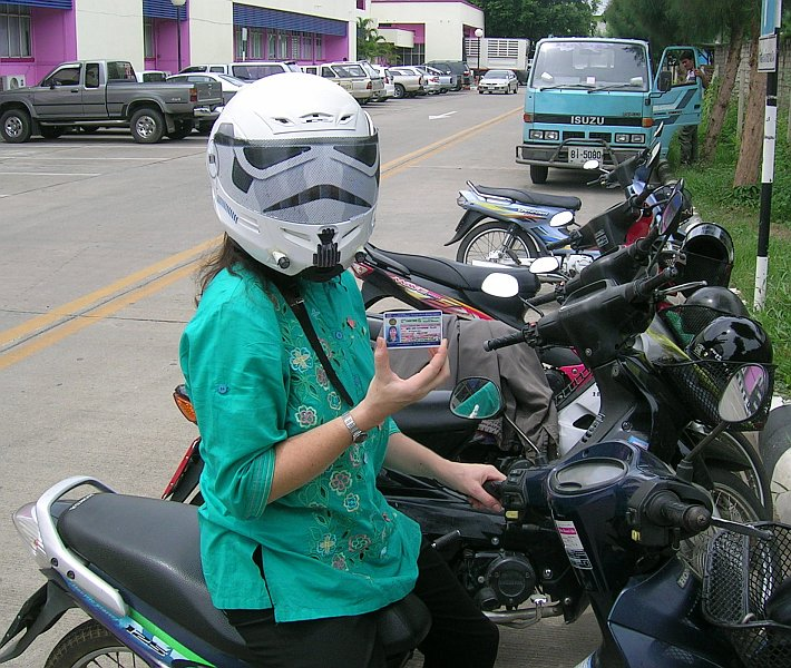 stormtrooper motorbike helmet